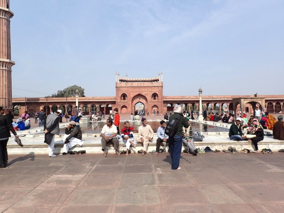 Muslims at the mosque Jama Masjid