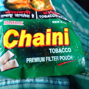 They have snus in India!! Chaini snus!!
