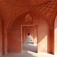 In the corridors of Taj Mahal
