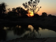 Found a dirty waterhole. Looks beautiful when there is sunset :)