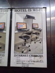Hotel is wifi! Haha.