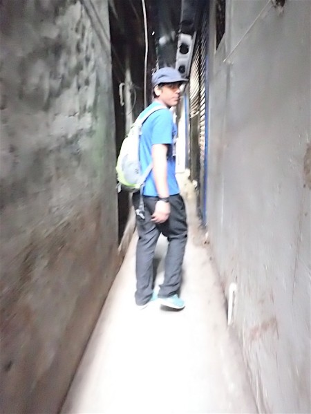 Nader, my guide, in the narrow streets of Delhi