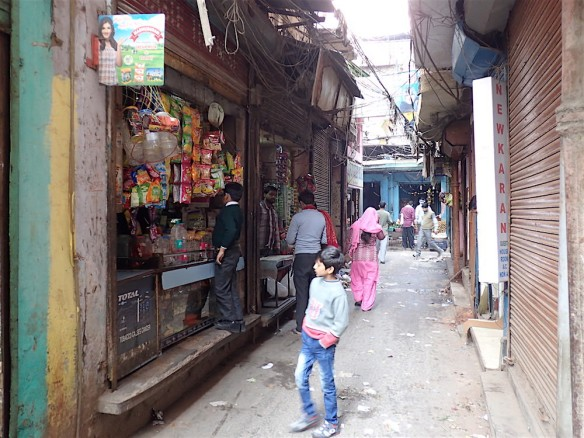 The inner streets of Delhi