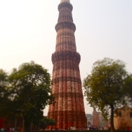The famous Qutub Minar, the highest building on eart h when it was built