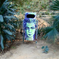 "Really liked all the trash bins, they all have their art work and ""Use me"". And yes, it's clean here!"