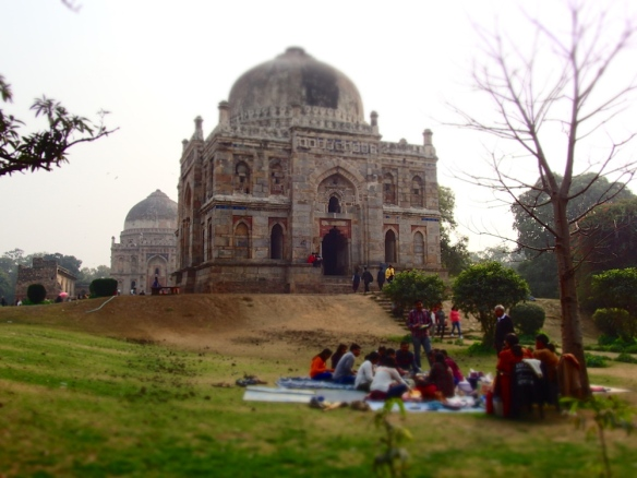 So cool old tombs and buildings in the park!