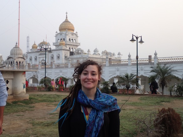 Me in front of the Sikh Temple
