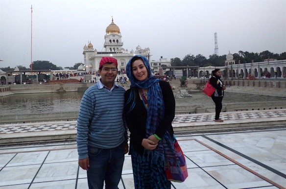 At the Sikh Tempel with Torun