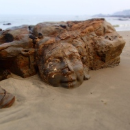 At the mini vagator beach you have this nice sculpture in the rocks!