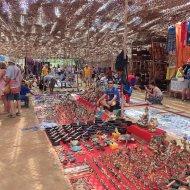 At the anjuna flea market!