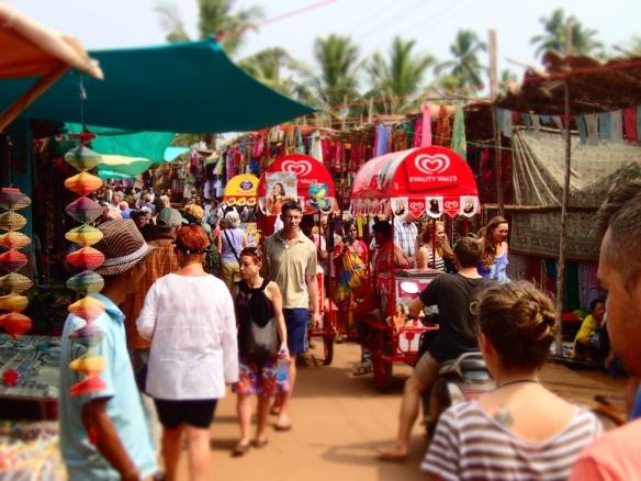 The anjuna flea market
