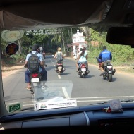 The traffic is better here - everyone drives scooter!
