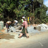 Construction workers in goa