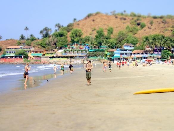 The beach at Arambol
