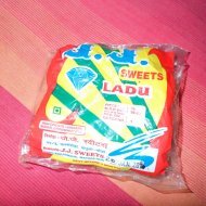 Sweets from Goa, called Ladu.