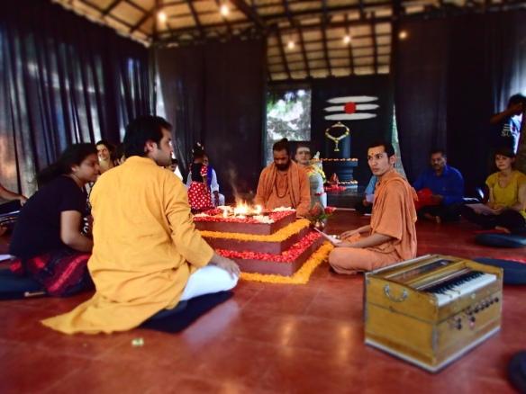 Birthday celebration of The guru, valentines day and fire ceremony
