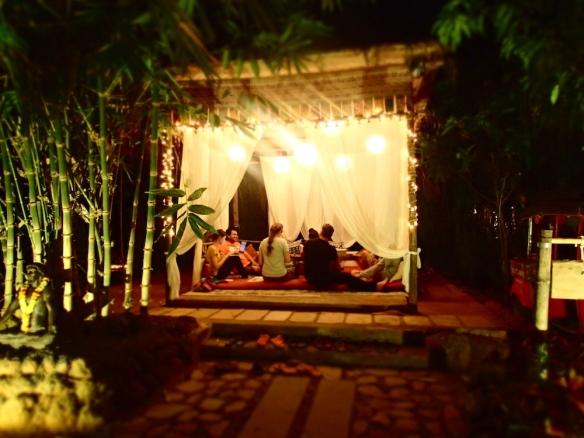 The reception - so cozy!