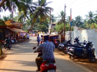 The main road in agonda