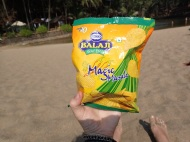 Tried some magic mansala chips, cost 10 rupees (like 10 cents). Spicy!