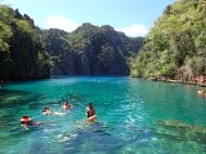 The Kayangan lake, truly crystal clear water here!