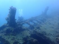 """Sangat Gunboat"", sunken on the side"