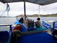 Chill and relax at the dive boat between the dives