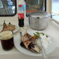 Lunch at the boat (Duilios of course)