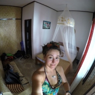 Our room at Beach cottages. Basic, but enough :)