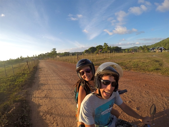 Riding back from Nacpan beach to Corong Corong... happy with our day!