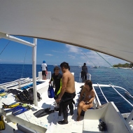On the dive boat!