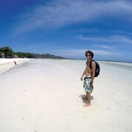 Anda beach! Very shallow water.