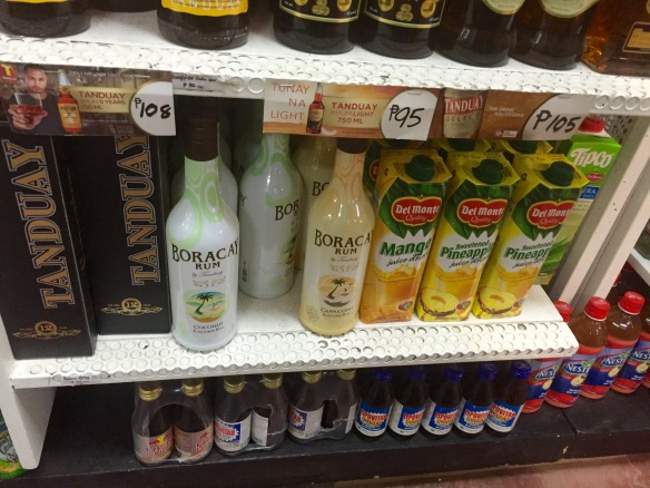 Almost the same price for a bottle of rum as for the juice!