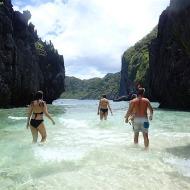We had to walk and swim to the hidden beach