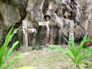 At the last stop, three crosses