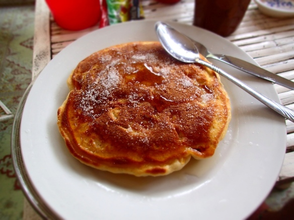 Yummy Pancakes! Mark does them really fluffy and thick - makes me full for half a day!