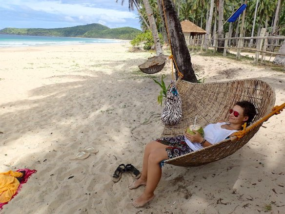 This is life!! Having a coconut from the tree above and drinking it in the hammock while listening to the waves....