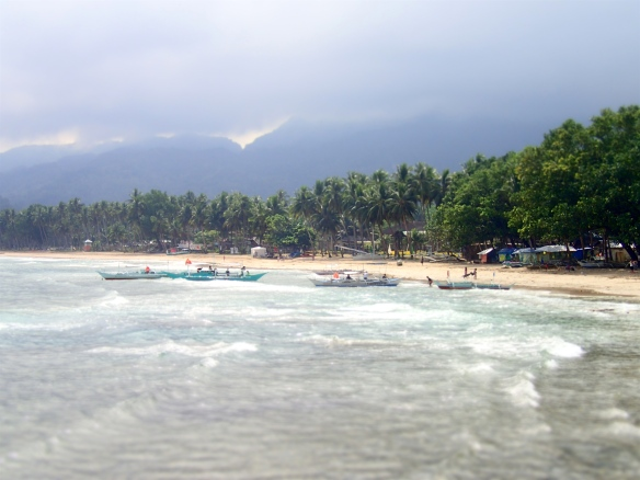 The beach of Sabang. Looks like it's going to be bad weather, but it never came!