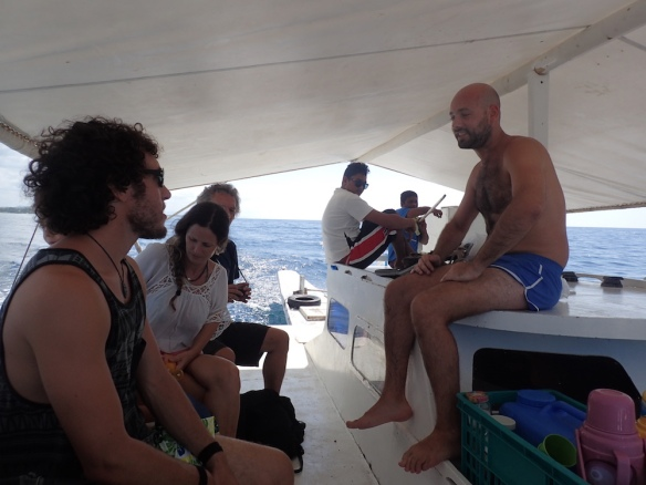 On the dive boat! With guillermo and the argentinian couple