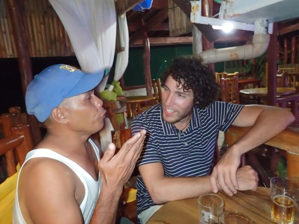 Haha, this guy... he came to us about 20 times that night and talking about swimming to manila our something, he wasnt' that good at english and we didn't really understand what he wanted.. but he kept repeating the same thing everytime..