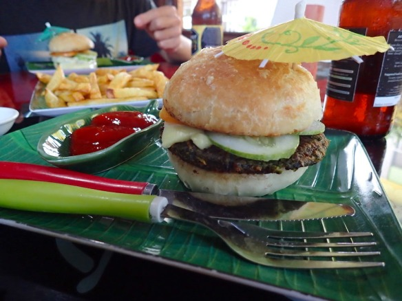 My vegetarian hamburger!!