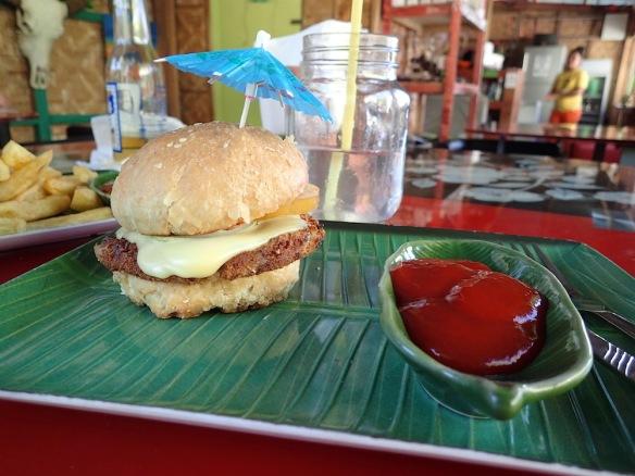 Coconut veg burger!