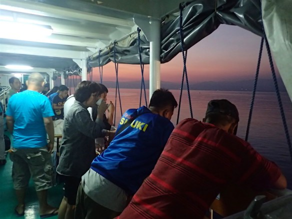 Arriving in Cagayan - sun is about to come up!