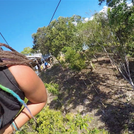 Zipline over the Loboc river! Me and Duilio there in the back ;)