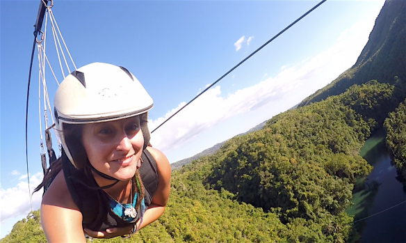 Ziplining over the loboc river! :)